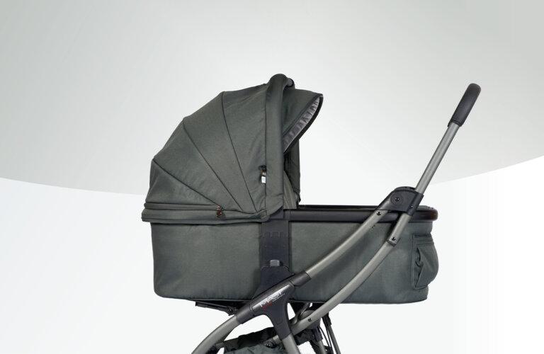 Kinderwagen / Buggy M.2x Babywanne vulacnic ash / olive grau - MAST Swiss Design Hersteller